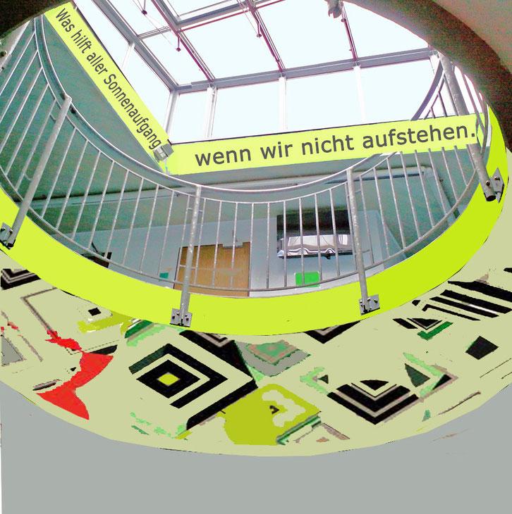 Ornamente und Farben entspannen und fördern die Urteilsbildung der Schüler,    Werner Krömeke, Entwurf 2015