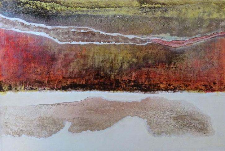""""""" Prehistórico"""" - Acrílico sobre lienzo - 130W x 90H x 2cm"""