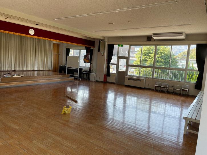 工事後のホール