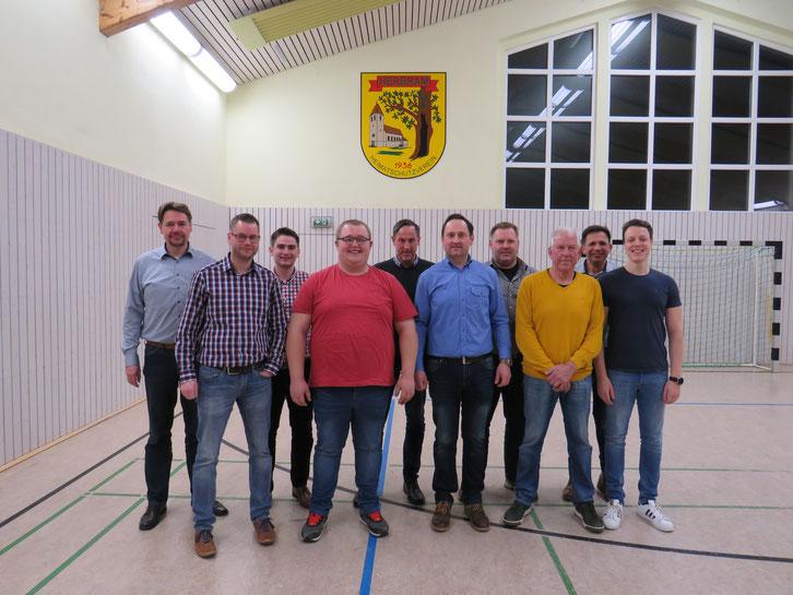 Der aktuelle Vorstand (von links): Rainer Schröder, Georg Wigge, Sebastian Rücker, Julian Vogt, Manuel Willeke, Elmar Koch, Norbert Lübbers, Johannes Vogt, Olaf Böning, Fabian Meyer