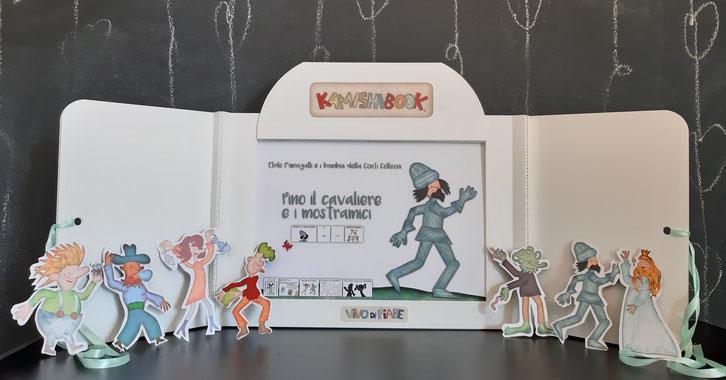 Kamishibai libri cavaliere mostri principessa coraggiosa libri racconti valigia vendita teatrino burattini caa comunicazione aumentativa e alternativa teatro delle ombre audiolibro cos'è