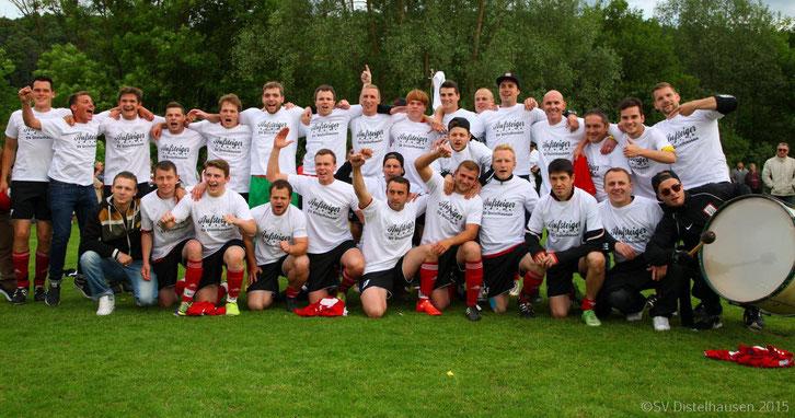 SV Distelhausen Aufstieg 2015 Grünsfeld