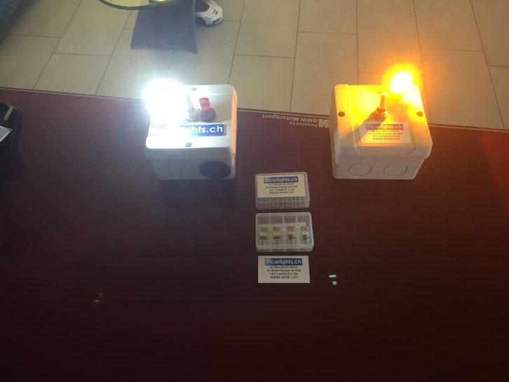 2x LED Standlicht W5W T10 canbus , 2x WY5W Seitenblinker Swiss Made by www.carlights.ch 3 Jahre Garantie Set Fr 49.-