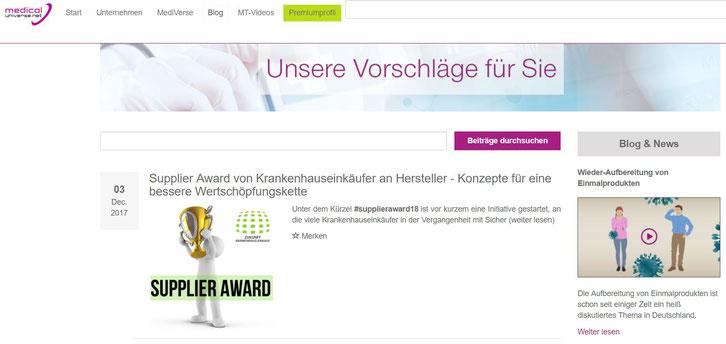 Portal: www.medical-universe.net, Herausgeber: UNIVERSE EMEDIA GmbH