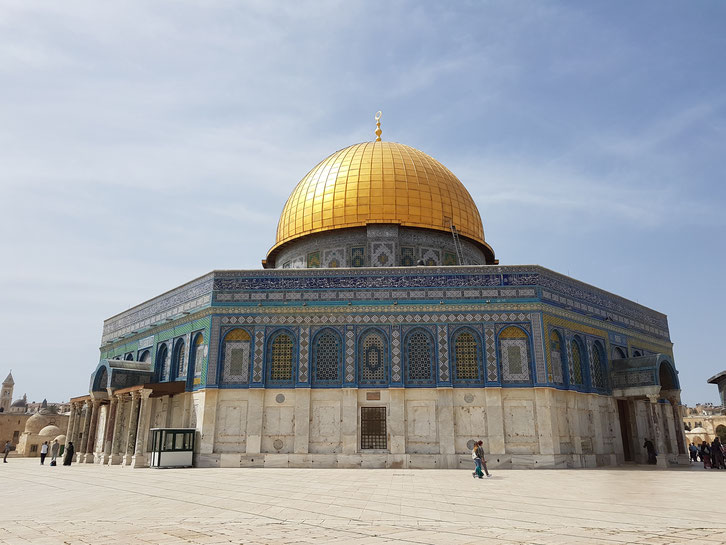 Felsendom auf dem Tempelberg in Israel
