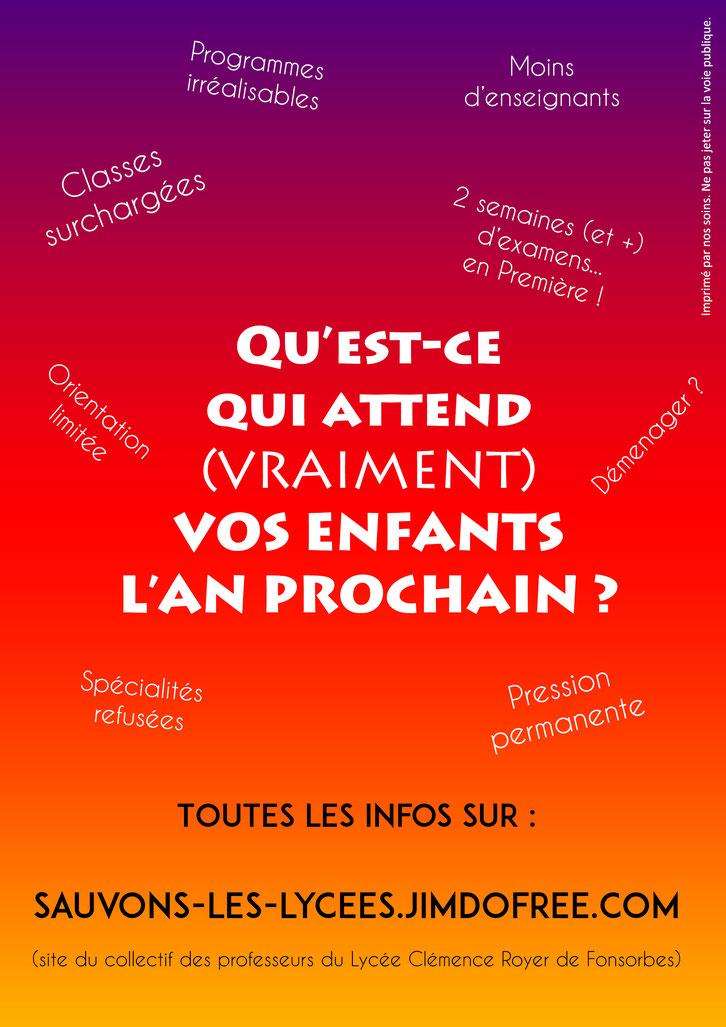 Tract Contre Réformes Blanquer Bac Lycée 2021