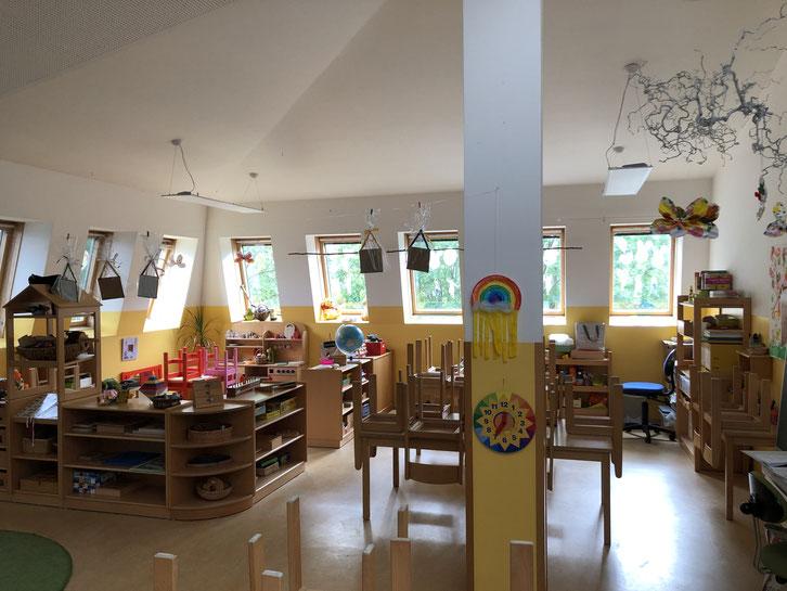 Das Dachgeschoss des Kindergartens nach dem Umbau 2007.