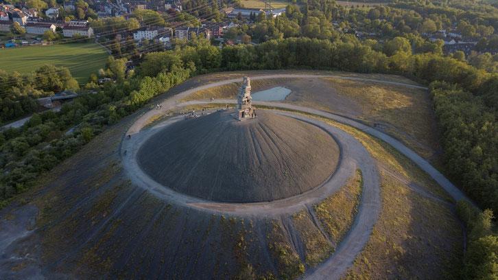 Ein Kunstwerk an sich: Die spiralförmig auf den Gipfel zulaufenden Wege