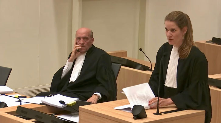 Oleg Pulatov's lawyers: Boudewijn van Eijck and Sabine ten Doesschate.