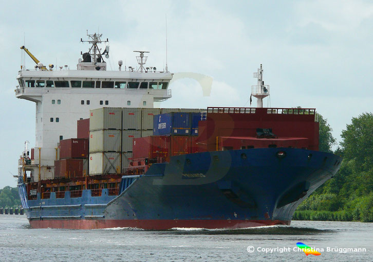 Containerschiff PRIAMOS, Nord-Ostsee Kanal, 22.06.2018
