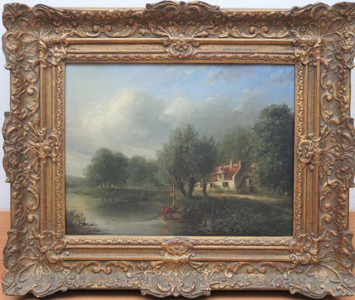 te_koop_aangeboden_een_landschaps_schilderij_van_de_nederlandse_kunstschilder_abraham_vermeulen_1817-1874