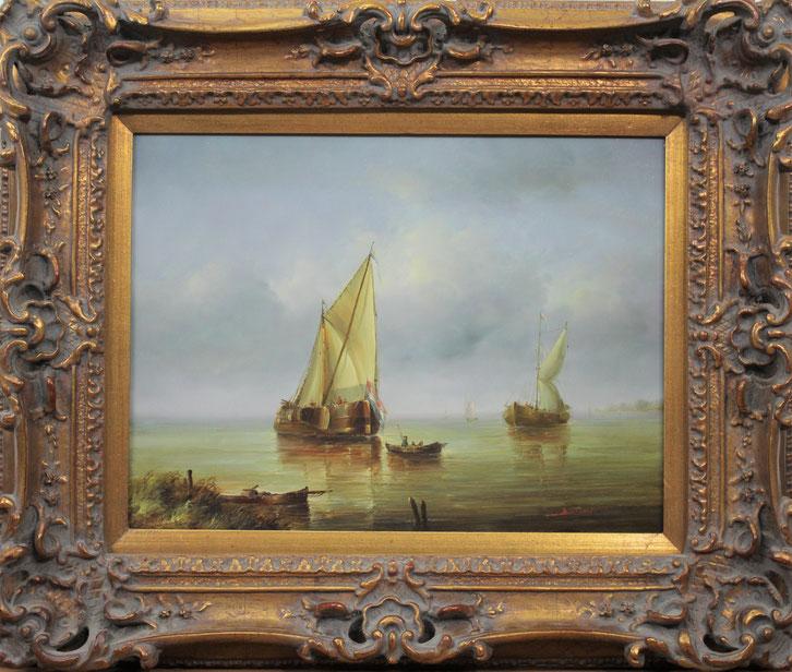 te_koop_aangeboden_een_marinegezicht_van_de_franse_kunstschilder_jean_michel_laurent_1898-1988
