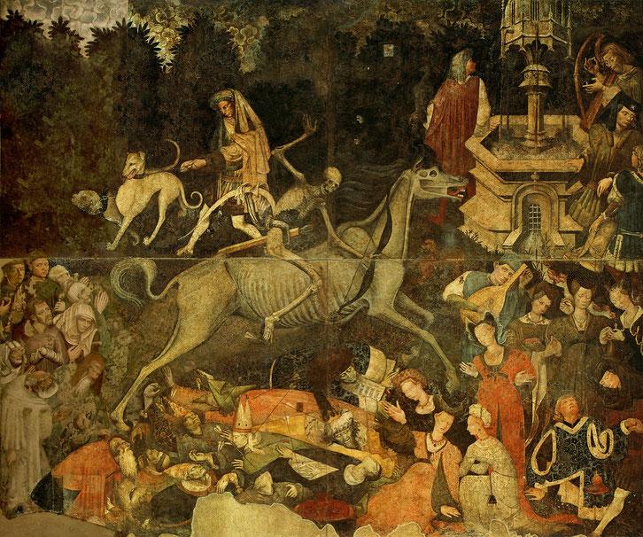 """Sconosciuto, """"Trionfo della morte"""" (1446)"""