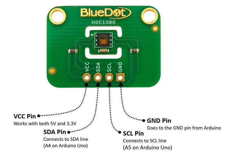 I2C Wiring for BlueDot BME280 Board