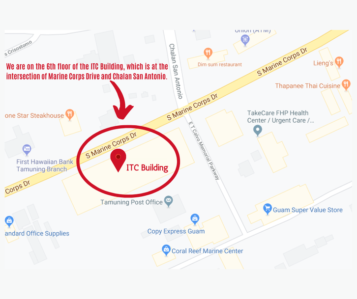 Location Map of the Philippine Consulate General (adapted from Google Maps)