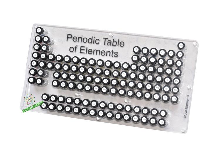 Tavola periodica case completo per collezionare gli elementi chimici NovaElements!