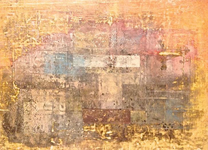 """"""" Urban Tracks """" - Acrylic on canvas - 92W x 75H x 2 cm"""