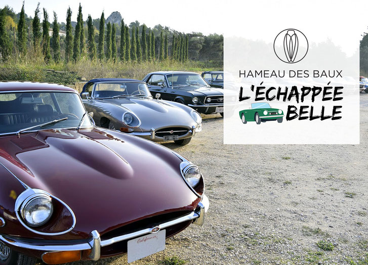 L'Échappée belle en voiture de collection du Hameau des Baux et Bullit Racing