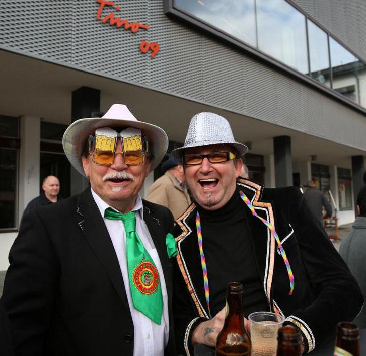 """auch Kanzler """"Hans von Steinfeld"""" (Hans Gramer) und der """"Minister der flotten Sprüche"""" (Walter Widemair) waren mit von der Partie"""