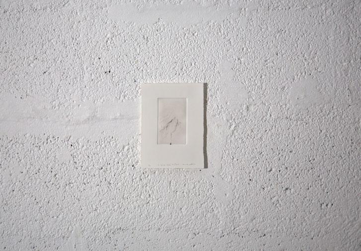 """""""Ce qui est caché de l'œil [24S.2/4]"""", Gravure taille-douce, 12,5x16,5 cm, pointe sèche sur zinc, 2018, photo © David Kidman"""