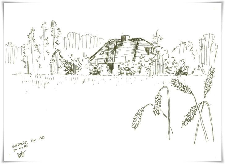 Bild Zeichnung: Ferienhaus in Gedelitz im Wendland Niedersachsen