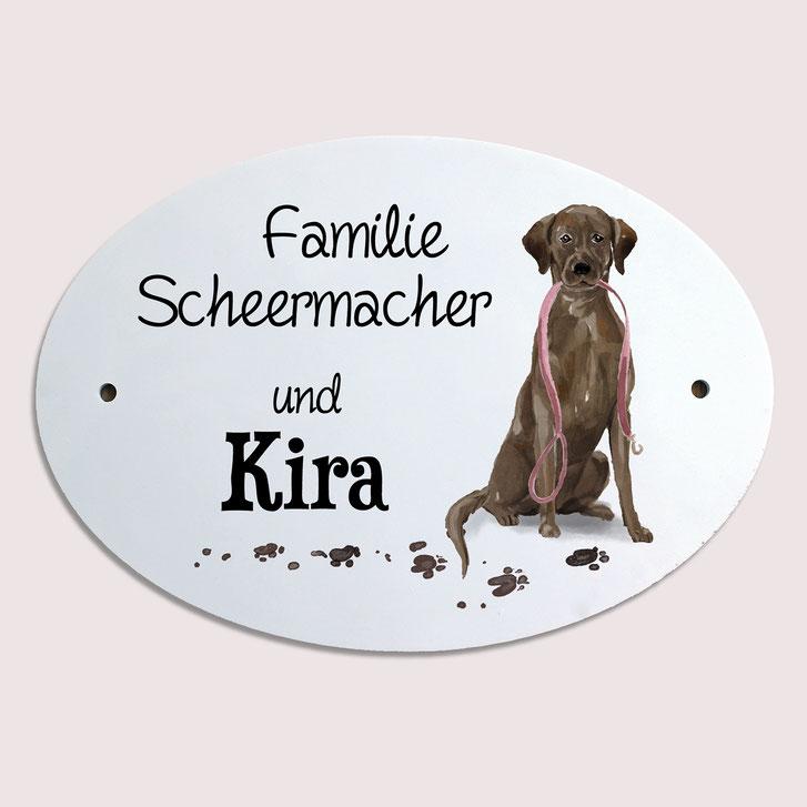 Türschild Hund Labrador Geschenk Umzug