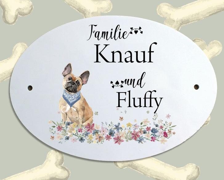 Türschild Hund französische Bulldogge Geschenk Umzug