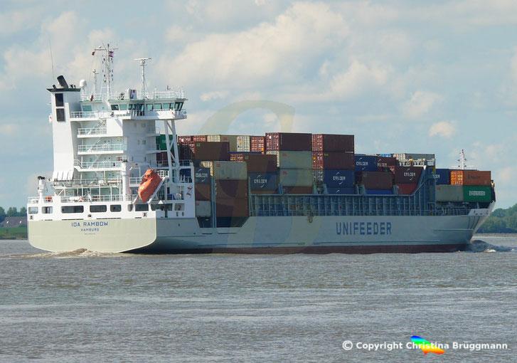 Open Top Containerschiff IDA RAMBOW, Sietas Typ: 168