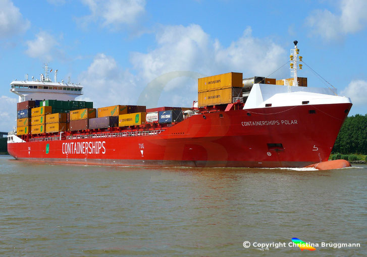 LNG angetriebenes Containerschiff CONTAINERSHIPS POLAR