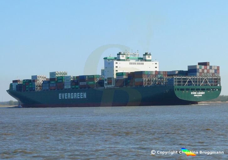 """""""EVER LUCENT"""" auf der Elbe 23.04.2015"""