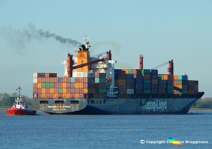 Schlepper ZP BULLDOG mit Containerschiff WASHINGTON EXPRESS