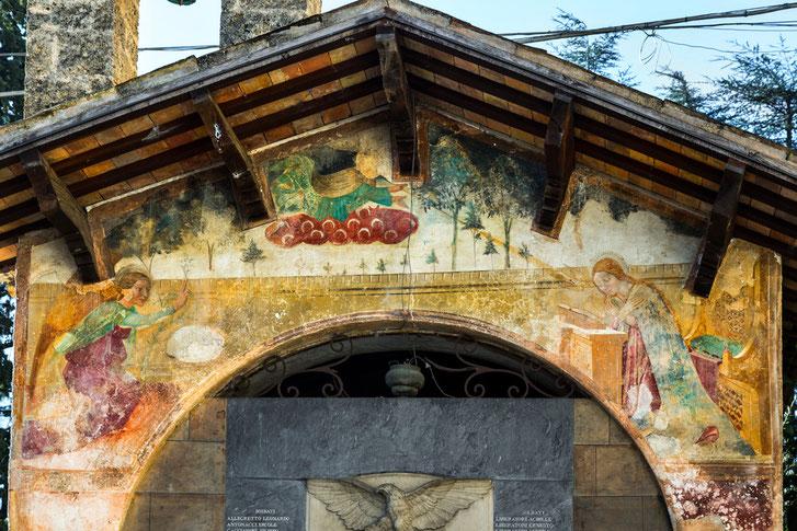 Annunciazione, Cona di San Sebastiano, Andrea De Litio,