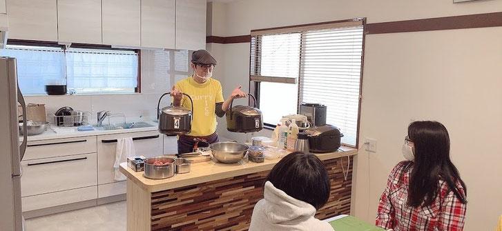 忙しい主婦のための時短料理教室(講師:カレーの大原屋 尾沢あきら先生)