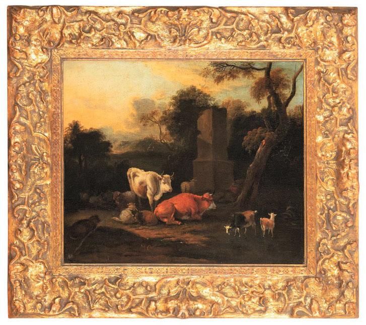 te_koop_aangeboden_een_17e_-eeuws_kunstwerk_met_pastorale_scene_van_de_nederlandse_kunstschilder_michiel_carree_1657-1727