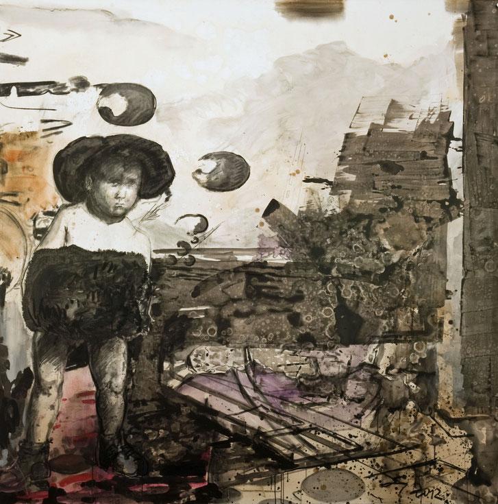 Kalte Kindertage · 2012 · 1.900 x 1.900 mm · Dispersion auf Leinwand