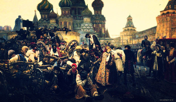 "V. Surikov, ""The Morning of the Execution of Streltsy"" (1881)"