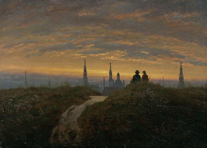 "Carl Gustav Carus, ""Veduta di Dresda""(c. 1822)"