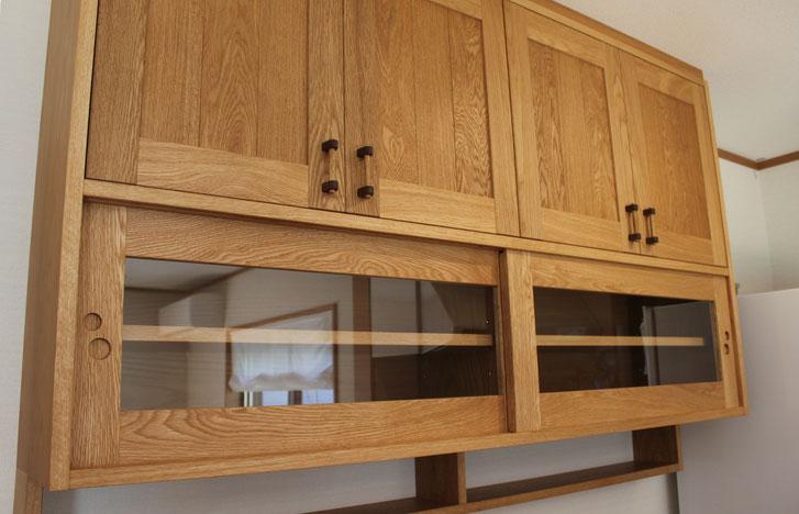 キッチン壁面収納(鎌倉市・M様邸)吊戸棚