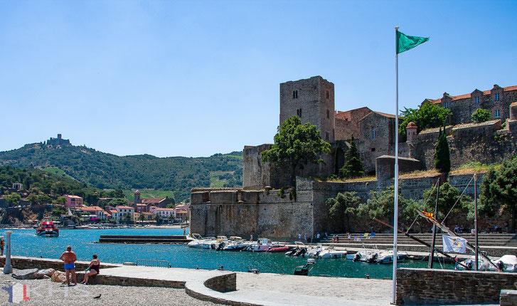 Bild: Blick auf das Château Royal in Collioure