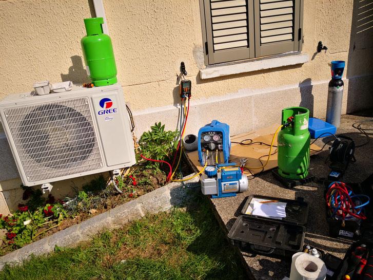 Mise en service pompe a chaleur, climatisation, clim