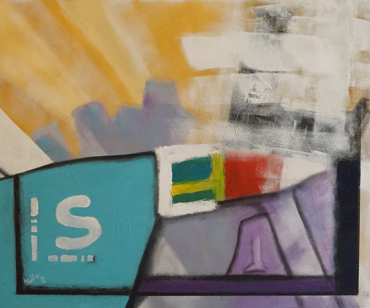 STADSHUS ABSTRACT 50 x 60 Acryl