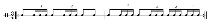 Ostinato Rhythmus Maurice Ravel Trommel