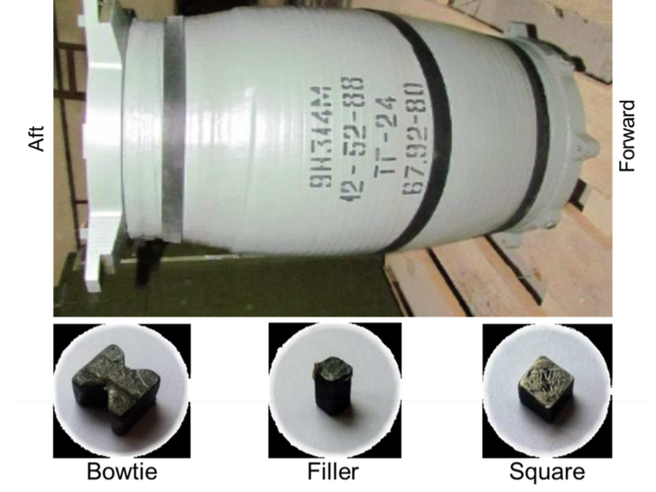 Buk 9N314M warhead contains three kinds of particles.