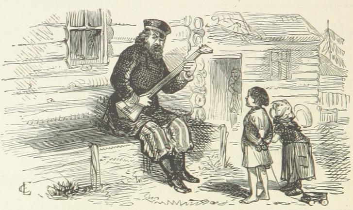 Volksglauben in Russland des 19. Jahrhunderts - Symbolbild Musiker im russischem Dorf