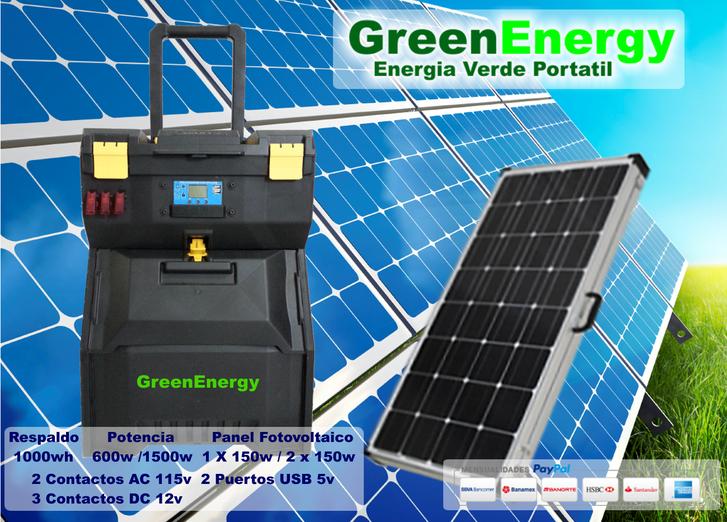 generador solar portatil