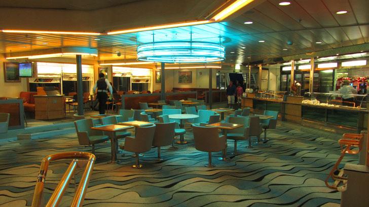 Le Pays d'Auge café aboard Normandie. Picture Antoine H.