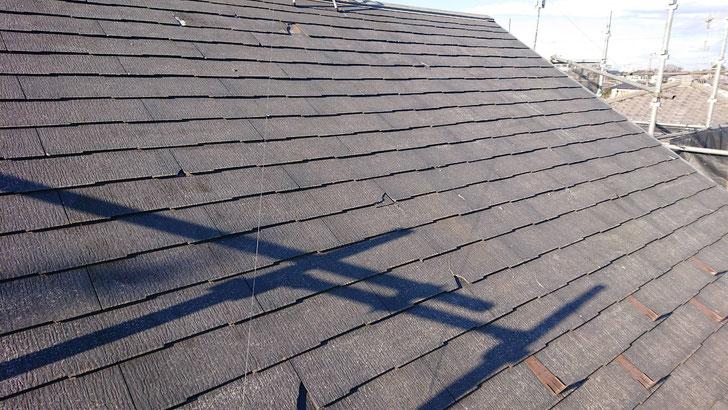鎌ヶ谷市北初富の屋根カバー工法、外壁塗装工事前