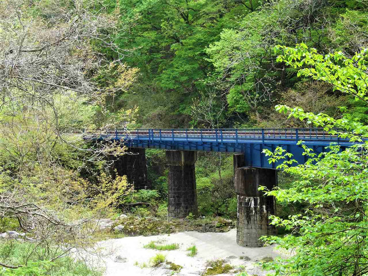 夏井川渓谷を横切る磐越東線