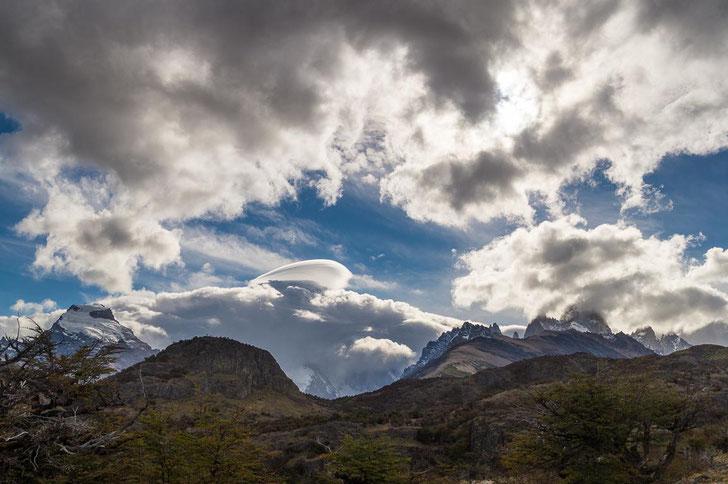 Wolkenspiel über dem Fitz- und Torre-Massiv
