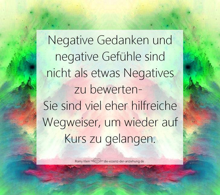 negative Gedanken negative Gefühle